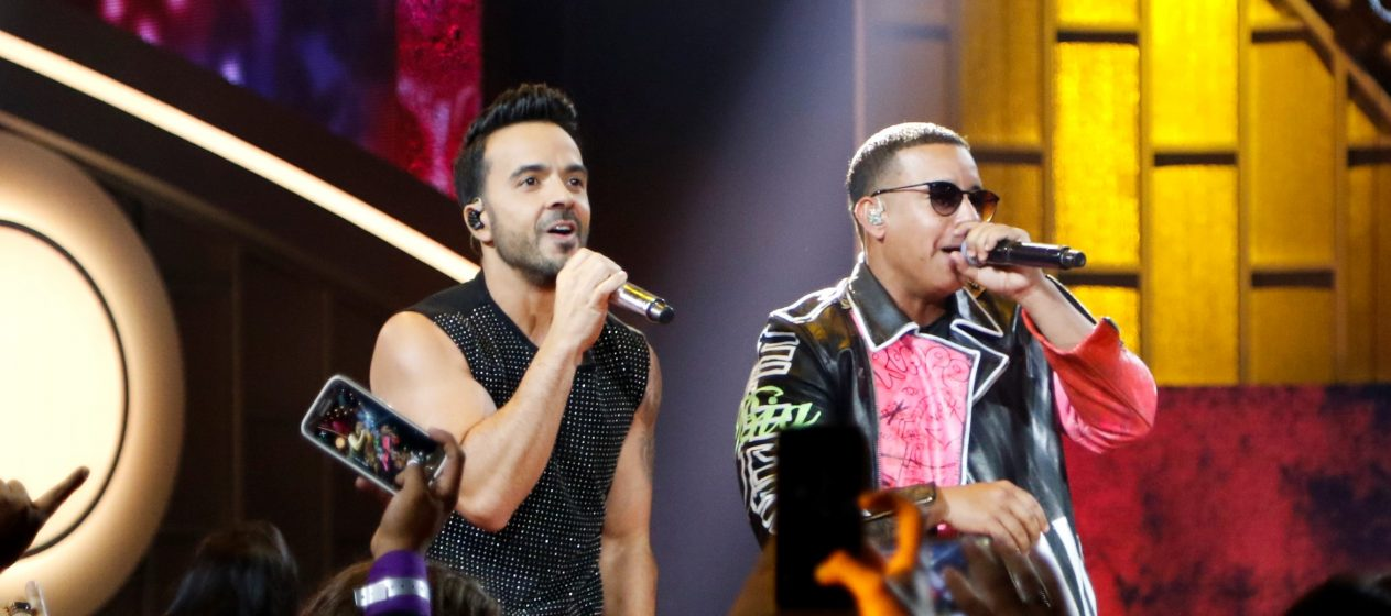PREMIOS BILLBOARD DE LA MòSICA LATINA 2017 -- Pictured: Luis Fonsi, Daddy Yankee perform on stage at the Watsco Center in the University of Miami, Coral Gables, Florida on April 27, 2017 -- (Photo by: John Parra/Telemundo)
