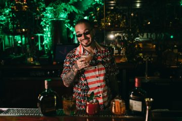 J Balvin Serving Guests Cocktails at Casa Buchanan's The Speakeasy in Las Vegas 4_24_19_Photo by Orli Arias