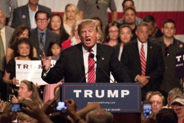 El candidato republicano, Donald Trump, durante una presentación en Florida.