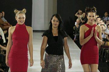 Marie Llanos en el cierre de su show en la semana de la moda de Nueva York. (Cortesía)