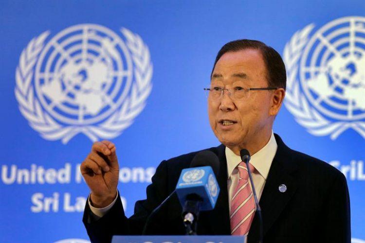Ban Ki-moon durante su locución en la ONU.