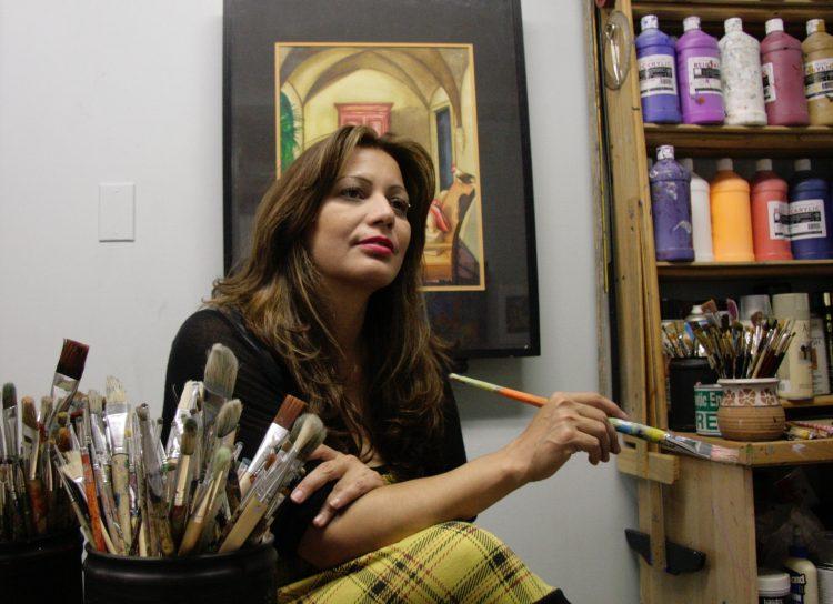 Alma Peralta disfruta cada momento dedicado a su arte. (Foto cortesía).
