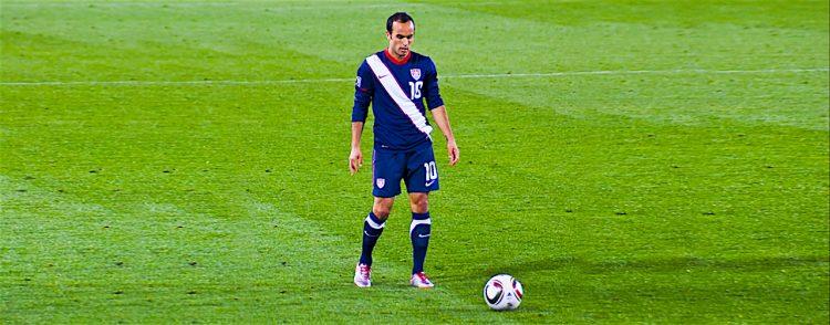 El delantero internacional Landon Donovan. Foto Dreamstime