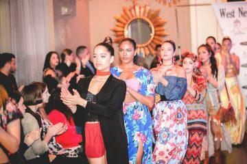 Desfile de las candidatas durante el cierre del desfile de la diseñadora Palenia Pichardo.