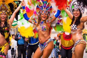"""Las seis escuelas que abrieron esta madrugada los desfiles de """"primera división"""" del Sambódromo volvieron a demostrar que el carnaval carioca es el mayor espectáculo del mundo. (Dreamstime)"""