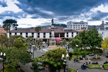 Vista aerea de la Plaza de la Independencia en Quito. (Dreamstime)