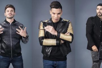 """Los cantantes, Pedro Capó, Luis Figueroa y Christian Pagan,  forman parte de un trio musical llamados """"Los Bambis"""" y creadores del tema """"Tequila Pa' La razón"""" en la serie transmitida por Telemundo"""
