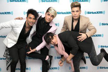 El boy-band cubano, Ángeles, visitó los estudios de SiriusXM hoy para promocionar su nuevo sencillo, Me Mata Tu Amor.