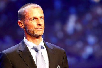 El presidente de la UEFA, Aleksander Ceferin, durante la Gala de la UEFA celebrada antes del sorteo de la Liga de Campeones, en el Forum Grimaldi de Montecarlo, Mónaco, el pasado 24 de agosto del 2017. EFE/Sebastien Nogier