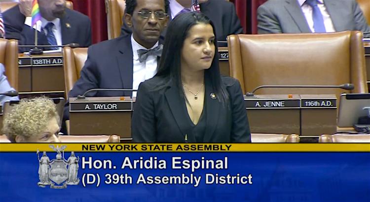 La Asambleísta Ari Espinal es una luchadora dedicada para todos los neoyorquinos. Y estamos orgullosos de estar con ella mientras se postula para la reelección. (Cortesía Youtube)
