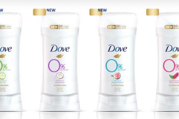 a línea completa de Dove 0% Aluminum estará disponible en supermercados, farmacias y cadenas minoristas de todo el país a partir de enero de 2019. Para más información, visita Dove.com. PME: $5.99 (2.6oz).