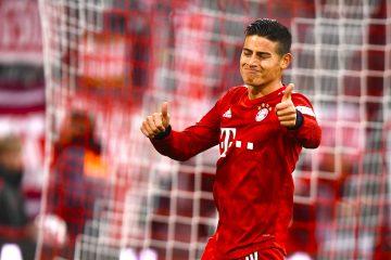 El colombiano James Rodríguez jugador de El Bayern Múnich