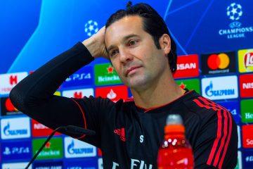 El entrenador argentino del Real Madrid Santiago Solari, durante la rueda de prensa tras el entrenamiento previo al partido de Liga de Campeones frente al Ajax. EFE