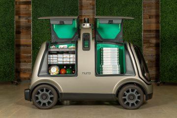 Así lucen los carros robotizados de delivery de pizza.