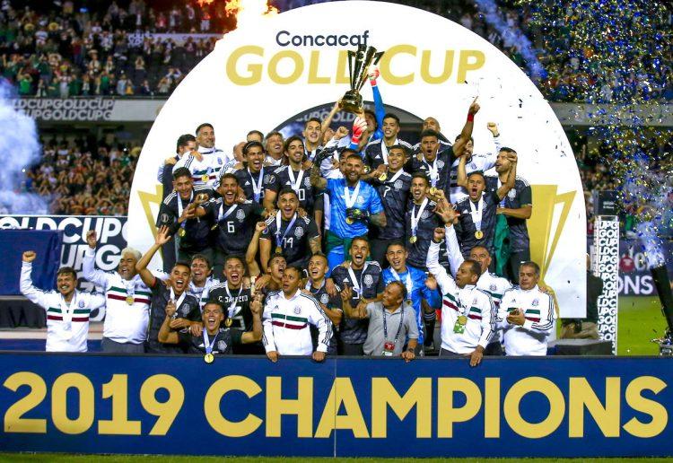 México se corono Campeón de Concacaf frente a su similar USA. EFE/EPA/TANNEN MAURY
