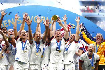 El equipo femenil de USA gano la copa del mundial de mujeres en (Mundial de Fútbol, Francia EFE/EPA/IAN LANGSDON