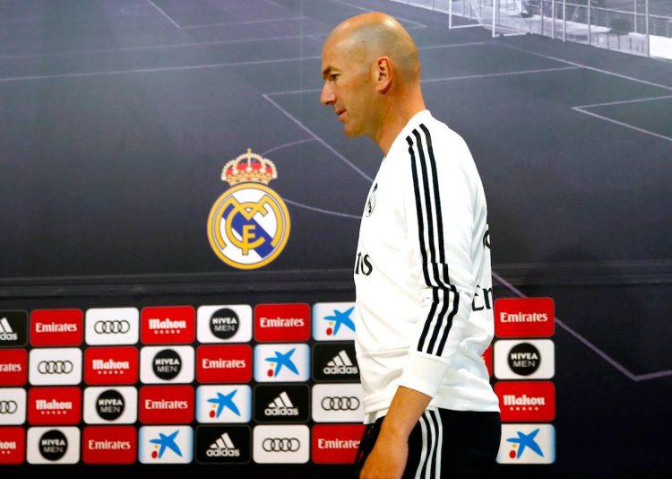 Fotografía de archivo tomada el 11/05/2019 de Zinedine Zidane, entrenador del Real Madrid. EFE/ARCHIVO/Javier López
