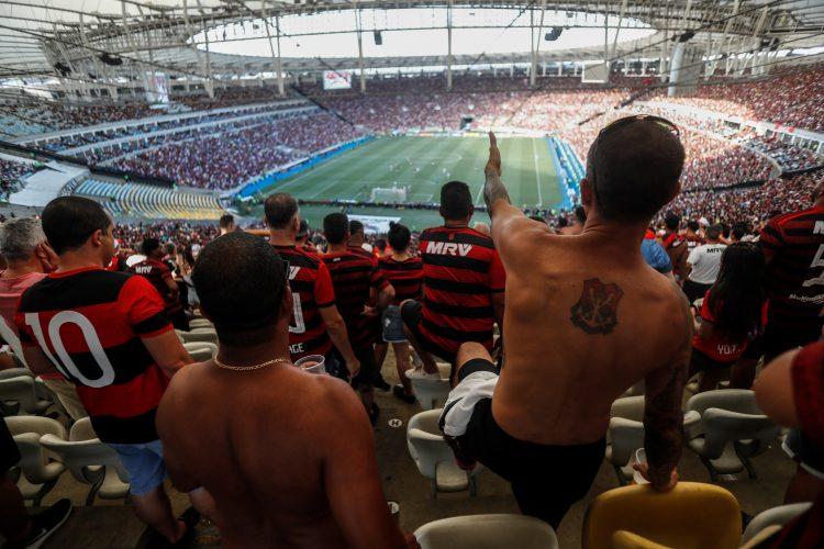 Aficionados del Equipo brasileño Flamengo