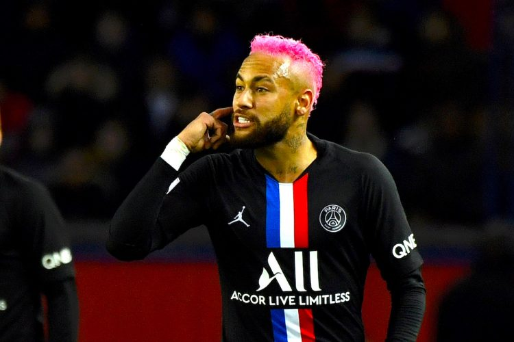 El delantero brasileño del Paris Saint Germain (PSG), Neymar.