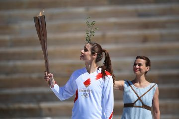 Tokyo 2020 Olympic Flame handover ceremony in Athens