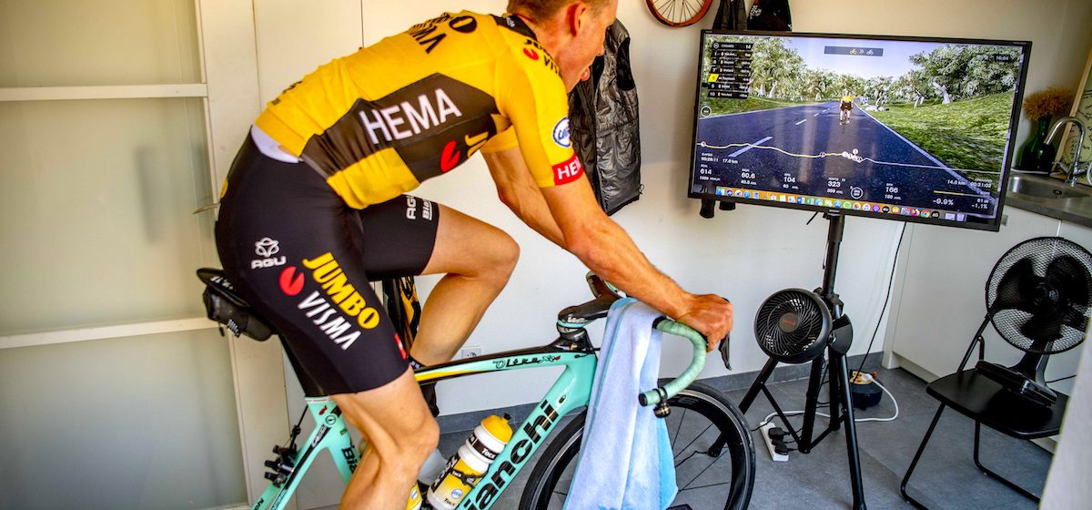 Mike Teunissen virtually rides the Tour of Flanders