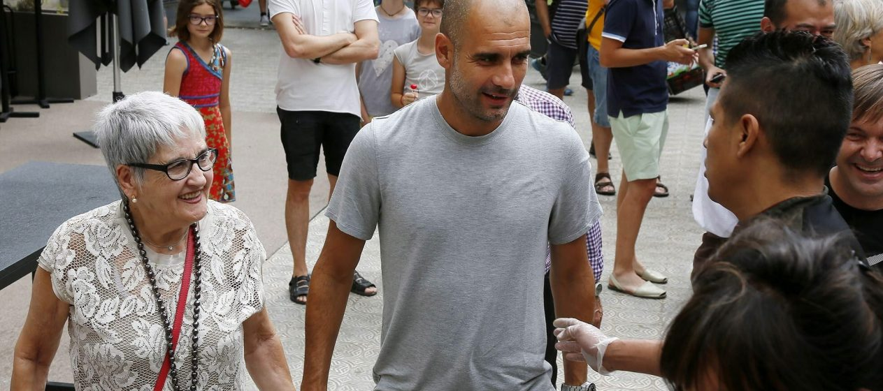Pep Guardiola and mother