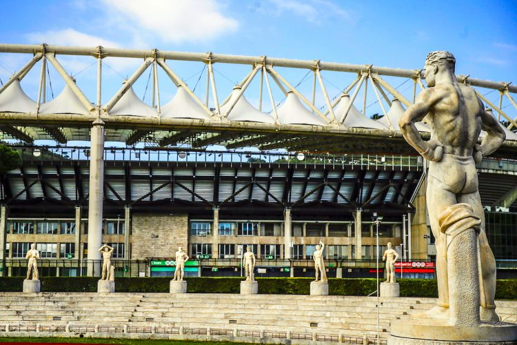 Rome (Italy), 15/03/2020.- General view of the Foro Italico sports complex in front of the Olympic Stadium in Rome, Italy, 15 March 2020. All sports events in Italy have been suspended after a decree ordered the whole country to be on lockdown amid the coronavirus COVID-19 pandemic. (Italia, Roma) EFE/EPA/FABIO FRUSTACI