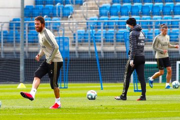 Entrenamiento Real Madrid en Valdebebas