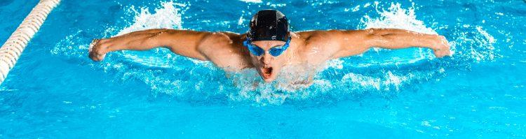 La piscina de 50 metros del centro será la única que puedan utilizar los nadadores -ocho por cada media hora- para un total de 112 atletas por día, que deberán entrenar con algunos carriles de distancia entre ellos para minimizar los riesgos. (Dreamstime)