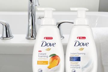 Disfruta de la nueva Dove Instant Foaming Body Wash.