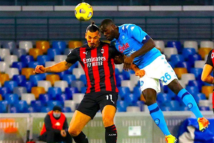 El delantero sueco Zlatan Ibrahimovic  del Inter juega un partido contra el Napoli de la liga italiana. EFE/EPA/CESARE ABBATE