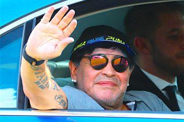 El astro argentino Diego Armando Maradona