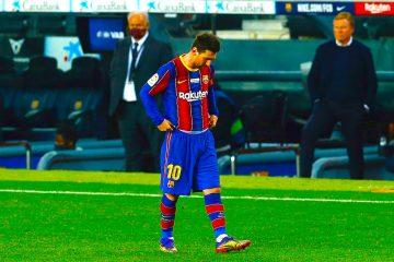 El delantero del FC Barcelona Leo Messi, durante el partido de la decimocuarta jornada de LaLiga Santander ante el Valencia disputado este sábado en el Camp Nou, en Barcelona. EFE/