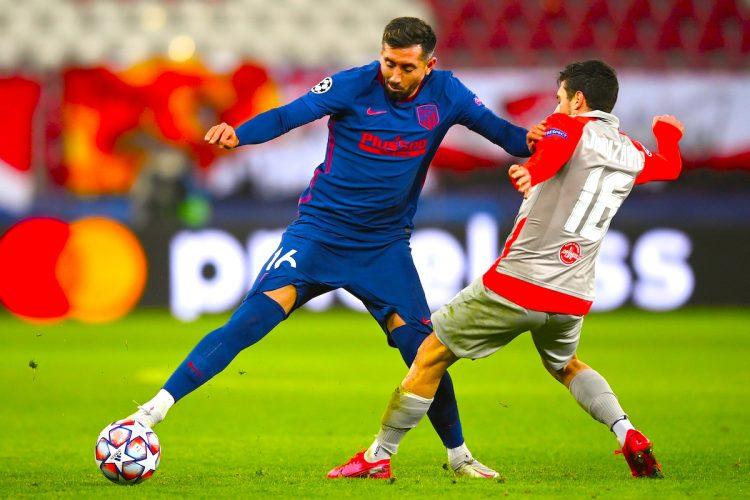 El mexicano Héctor Herrera, centrocampista del Atlético de Madrid. EFE/EPA/Christian Bruna