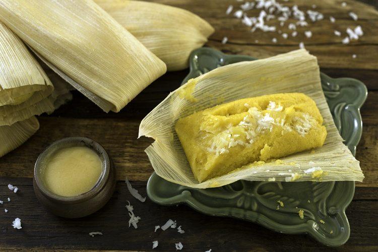 Tamales de Coco y Piña.