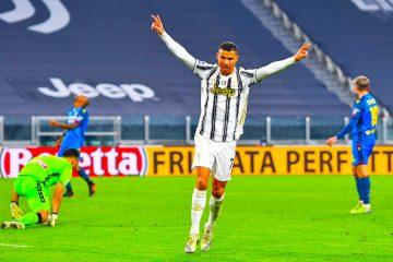 El portugués Cristiano Ronaldo, anoto dos goles que elevan a 758 sus tantos en partidos oficiales. EFE