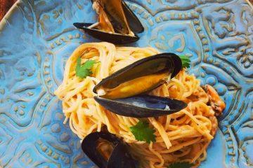 Barilla® Linguine con Camarones y Vino Blanco.