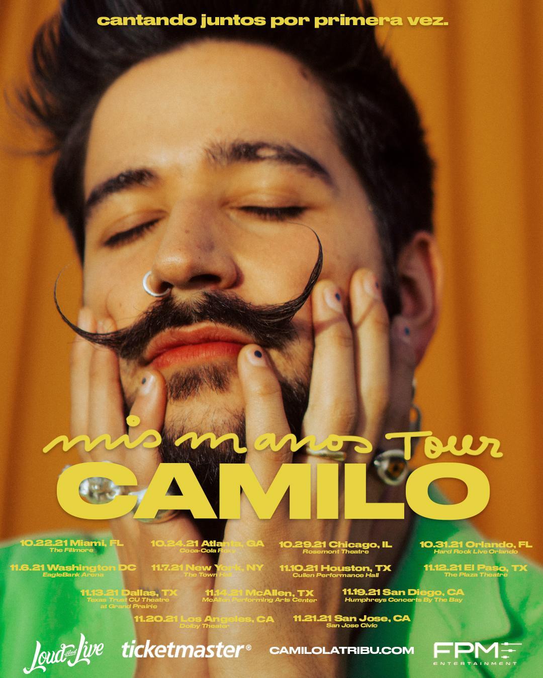 """Updated_Camilo_MisManos_Routing_1080x1350 CAMILO TRAERÁ SU ESPERADO """"MIS MANOS TOUR"""" A ESTADOS UNIDOS"""
