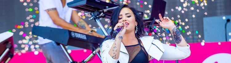Lovato contó que entendió mejor su expresión de género tras hablar con Sam Smith, cantante que también se identifica de esta manera. (Dreamstime)
