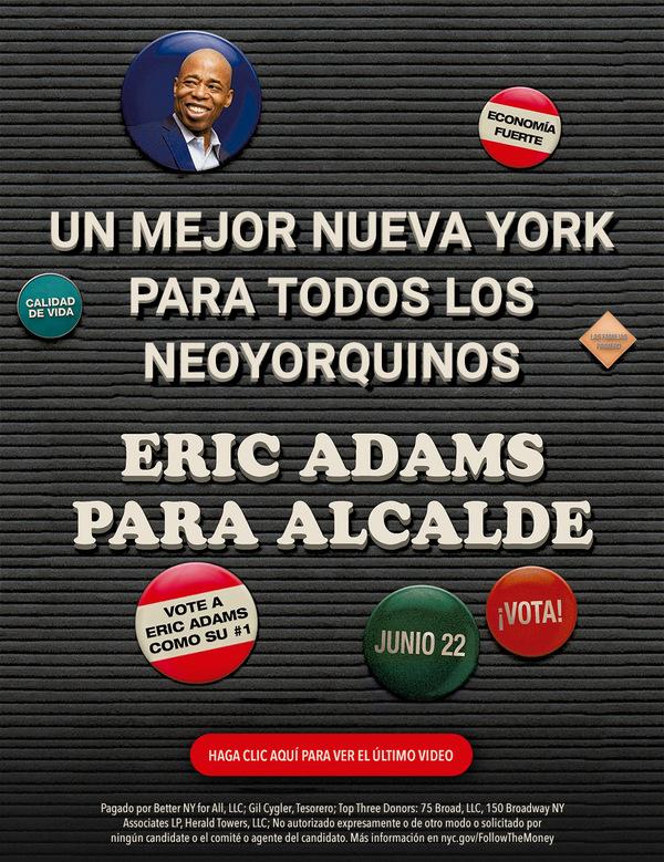 img Eric Adams para Alcalde de Nueva York