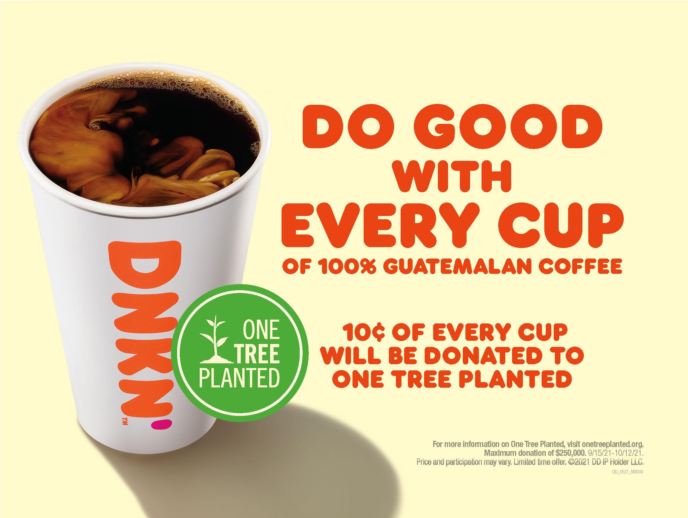 Guatemalan_Coffee__One_Tree_Planted_POP__1_1 Dunkin' Celebra el Mes de la Herencia Hispana con Donas de Dulce de Leche